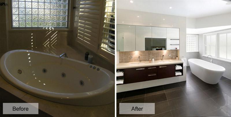 Bathroom renovation in sydney s north west for Kitchen renovations western sydney