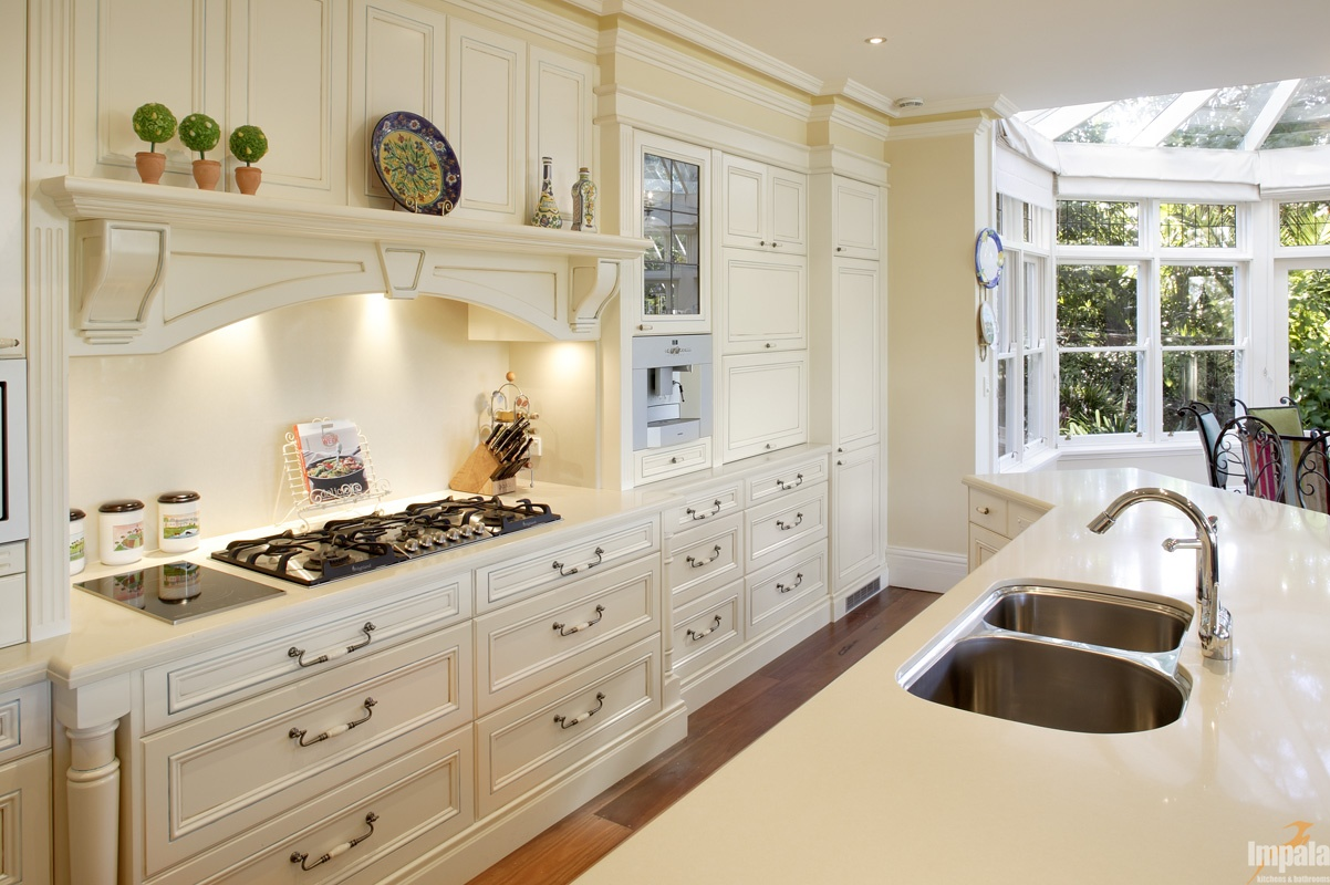 Handpainted provincial kitchen for Kitchen designs melbourne