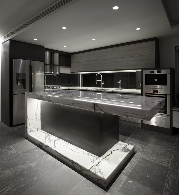 New Home Designs Latest Modern Home Kitchen Cabinet: Ultra-Modern Aesthetic